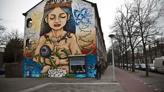 Уличное искусство в Амстердаме